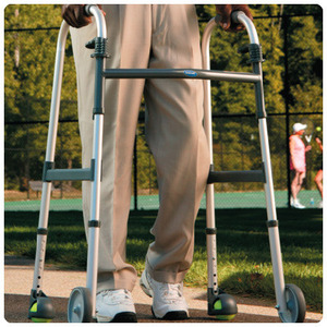 Invacare® Blue Release Walker with Wheels and Courtside Glides/563517