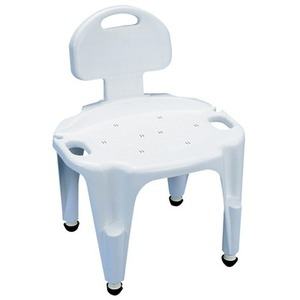 등받이샤워의자/Adjustable Composite Shower Seat with Back/081535558