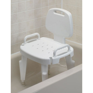 손잡이등받이목욕의자/Adjustable Shower Seat with Arms and Back/F727142120