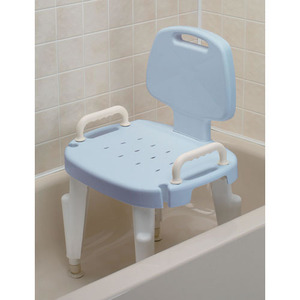 파란색등받이목욕의자/Adjustable Shower Seat with Arms and Back, Blue/F727142124