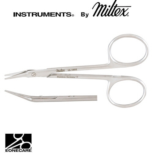 "[Miltex]밀텍스 ALBLI Corneal Scissors #18-1602 4""(10.2cm),angled on flat,rightblunt tips"