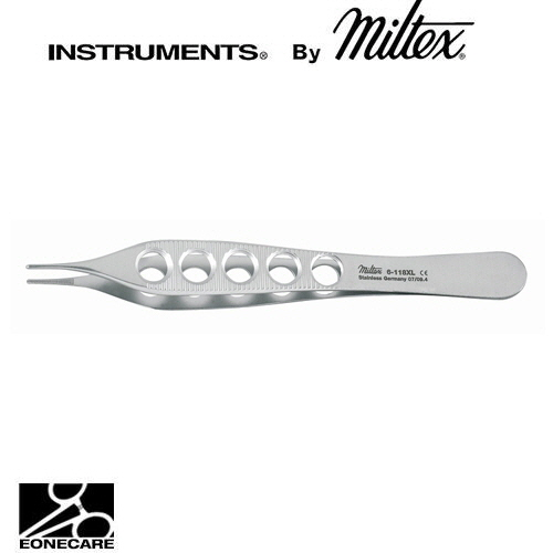 "[Miltex]밀텍스 ADSON Dressing Forceps 드레싱포셉 #6-118XL 4-3/4""(12.1cm),straightdelicate,serrated,lightweight fenestrated handles"
